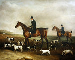 Michael Beverley with his Whipper in and Harriers, 1831 Poster Art Print by Abraham Cooper