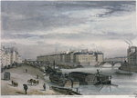 The Ile Saint-Louis, 1832 Poster Art Print by Franco-Flemish School