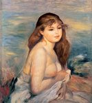 The Blonde Bather, c.1887 Poster Art Print by Pierre-Auguste Renoir
