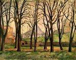 Chestnut trees at the Jas de Bouffan, c.1885-87 Poster Art Print by Paul Cezanne