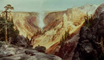 The Grand Canyon of the Yellowstone, 1872 Poster Art Print by Thomas Moran