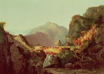 Scene from 'The Last of the Mohicans', by James Fenimore Cooper Poster Art Print by Thomas Moran