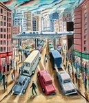 Fine Art Print of Metropolis, 1999 by P.J. Crook