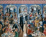 Cafe, 2005 Poster Art Print by Lincoln Seligman