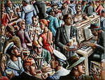 Piano Bar, 1998 Poster Art Print by Lincoln Seligman