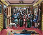 The Vet's Waiting Room Poster Art Print by Janet and Anne Johnstone