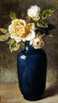 Vase of Roses Poster Art Print by Margaret Ann Eden