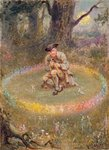 The Fairy Ring- the Enchanted Piper, c.1880 Poster Art Print by Fortune Louis Meaulle