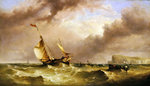 Shipping off the South Foreland, 1863 Poster Art Print by English School