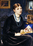 Portrait of Louise A. Baldwin, 1868 Poster Art Print by Sir Edward John Poynter