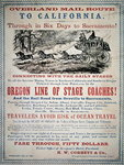 Advertisment for the Oregon Line of Stage Coaches, 1866 Poster Art Print by American School