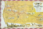 Map of the Old Oregon Trail Poster Art Print by American School