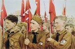 Hitler Youth Parade, Nazi Germany, 1933 Poster Art Print by German Photographer