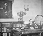Josef Goebbels in his office Poster Art Print by German Photographer