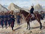 Punjab Frontier Force No.1 Kohat Mountain Battery, the Anglo-Indian Army of the 1880s Poster Art Print by English School