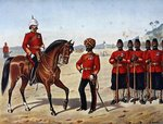 The Queen's Own Madras Sappers and Miners, Review Order, Anglo-Indian Army of the 1880s Poster Art Print by English School