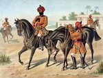 The 1st Bengal Cavalry, Review Order, Anglo-Indian Army of the 1880s Poster Art Print by English School