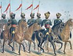 The 2ND Bombay Lancers, review order, Anglo-Indian Army of the 1880s Poster Art Print by English School