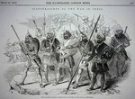 Sikh soldiers, from a sketch by an Officer of the Bengal Engineers, pub. in 'The Illustrated London News', 28th March, 1846