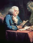 Benjamin Franklin, 1766 Poster Art Print by French School