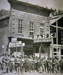 Gold Miners at Deadwood City, South Dakota, c.1877 Poster Art Print by Reverend Samuel Manning