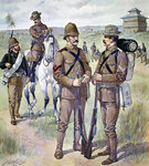 U.S. Army uniforms 1898-1900: Khaki field dress for enlisted men Poster Art Print by French School