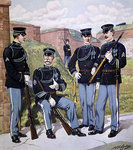 U.S. infantry full dress 1902-07 armed with U.S. magazine rifle model 1903 Poster Art Print by Richard Caton II Woodville