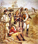 American Continental Army: Uniforms of independent company organizations of 1774-5 Poster Art Print by Paul Gauguin
