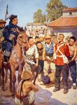 Rebels capture a British soldier during the Taiping Rebellion in China Poster Art Print by French School