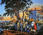 American Country Life: Bringing Home the Game, 1855 Poster Art Print by William Snr. Shayer
