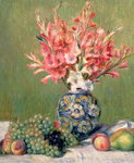 Still life of Fruits and Flowers, 1889 Poster Art Print by Pierre-Auguste Renoir