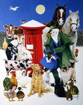 Christmas Post Poster Art Print by Maggie Rowe