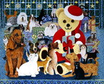 Happy Christmas Poster Art Print by George Adamson