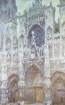 Rouen Cathedral, the west portal, dull weather, 1894 Poster Art Print by Claude Monet