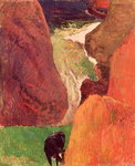 At the Bottom of the Gulf, 1888 Poster Art Print by Paul Gauguin