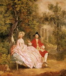 Conversation in a Park, portrait of the artist and his wife, Margaret Burr