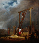 Fine Art Print of An Execution at a Gallows by Pieter Meulener