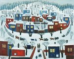 Winter Village, 1969 Poster Art Print by Maggie Rowe
