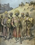 Negus of Abyssinia, Menelik II Poster Art Print by French School