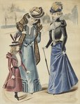 Fashion plate, on the boulevard, illustration from 'La Nouvelle Mode', 1897 Poster Art Print by Cecil Charles Windsor Aldin