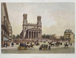 Church of St. Vincent de Paul, Paris, illustration from 'Paris dans sa splendeur', published by Henri Charpentier, engraved by Charles Claude Bachelier Poster Art Print by Philippe Benoist