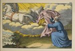 Elijah ascends to Heaven in a whirlwind leaving his disciple Elisha to carry on his work, illustration from 'L'Ancien Testament', published by Jakob Ferdinand Schreiber, Esslingen Poster Art Print by German School
