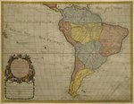 Map of South America, published in 1700, Paris Poster Art Print by Guillaume Delisle
