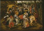 Open air wedding dance, 1610 Poster Art Print by Pieter the Elder Bruegel