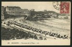 Postcard depicting the Grande Plage of Biarritz, c.1900 Poster Art Print by P.J. Crook