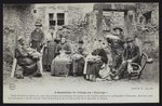 Postcard depicting the villagers meeting or 'Couvige', Le Puy-en-Velay, c.1900 Poster Art Print by French Photographer