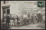 Postcard depicting the shoeing of a horse in Cornes, Le Velay, c.1900 Poster Art Print by French Photographer