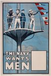 'The Navy Wants Men', WWI recruitment poster Poster Art Print by Thomas Rowlandson