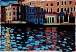 Winter Morning, Grand Canal Poster Art Print by Sara Hayward