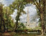 View of Salisbury Cathedral from the Bishop's Grounds, Poster Art Print by Julien Jacottet